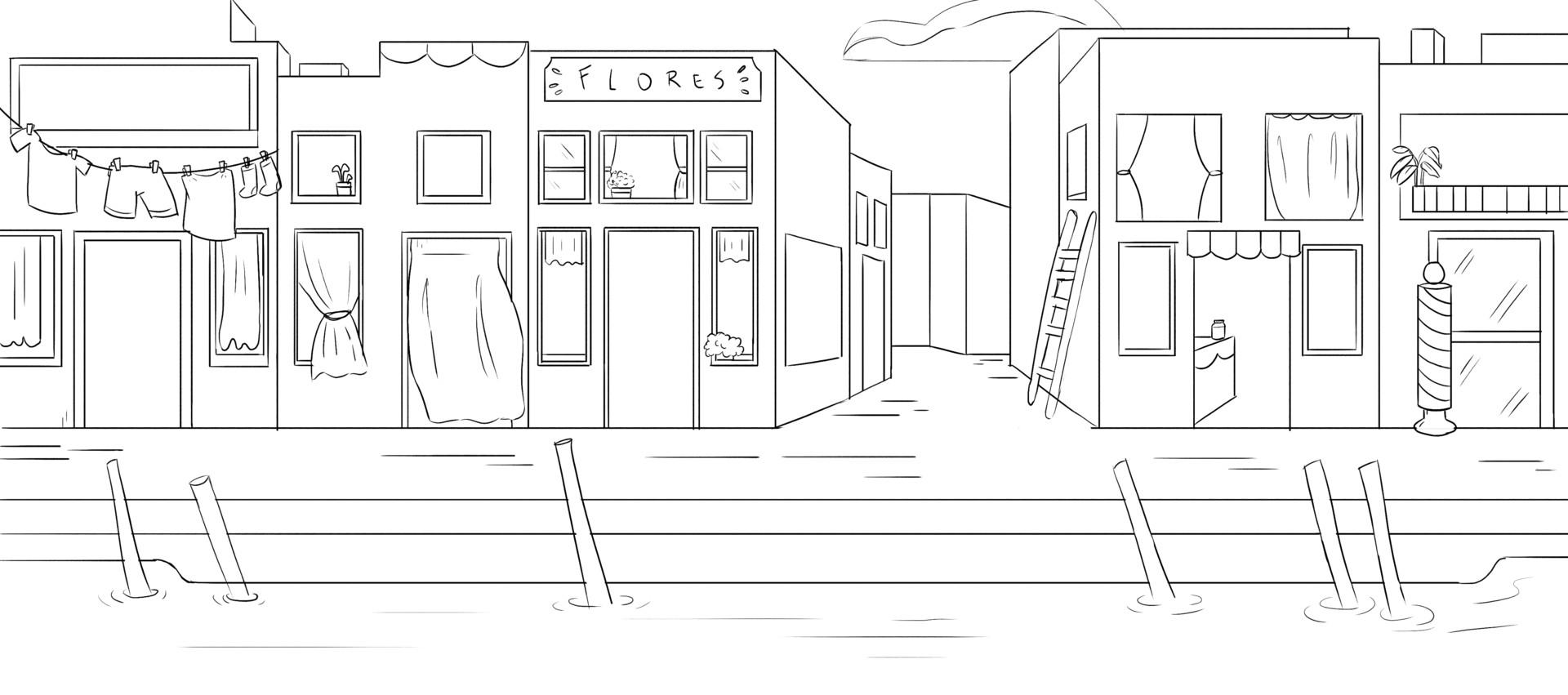 Port Scene - Sketch.