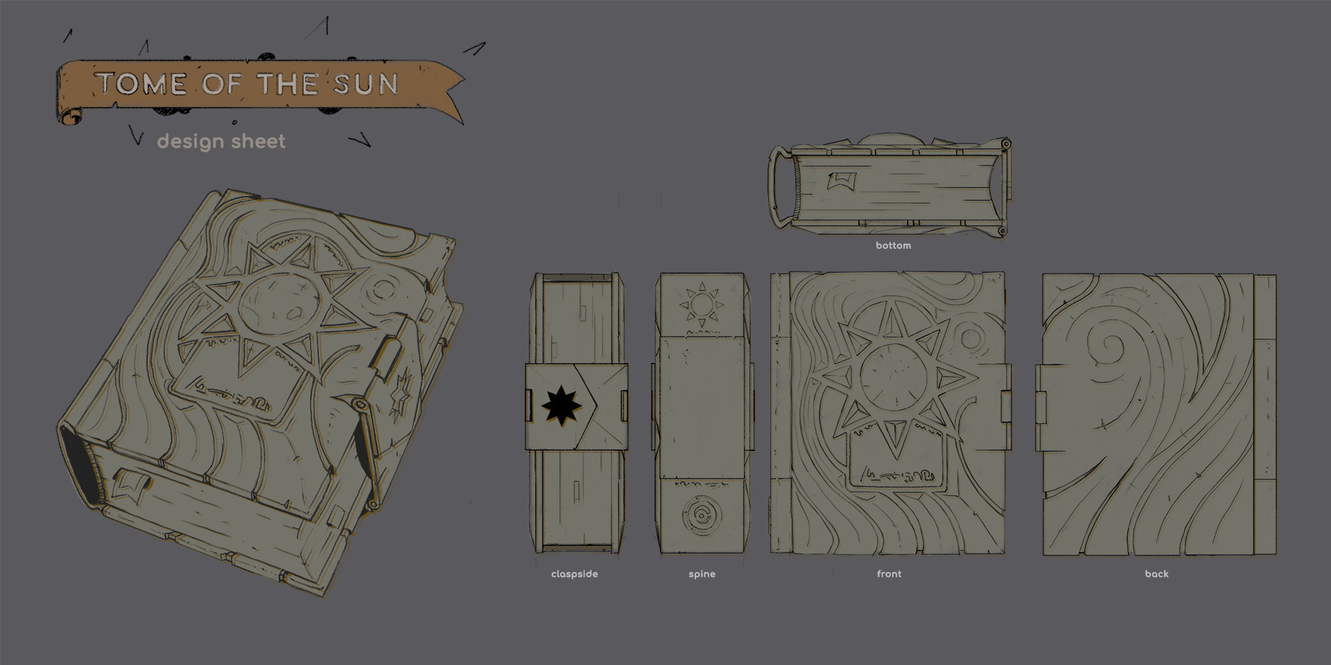 Michael loos tome of the sun design sheet