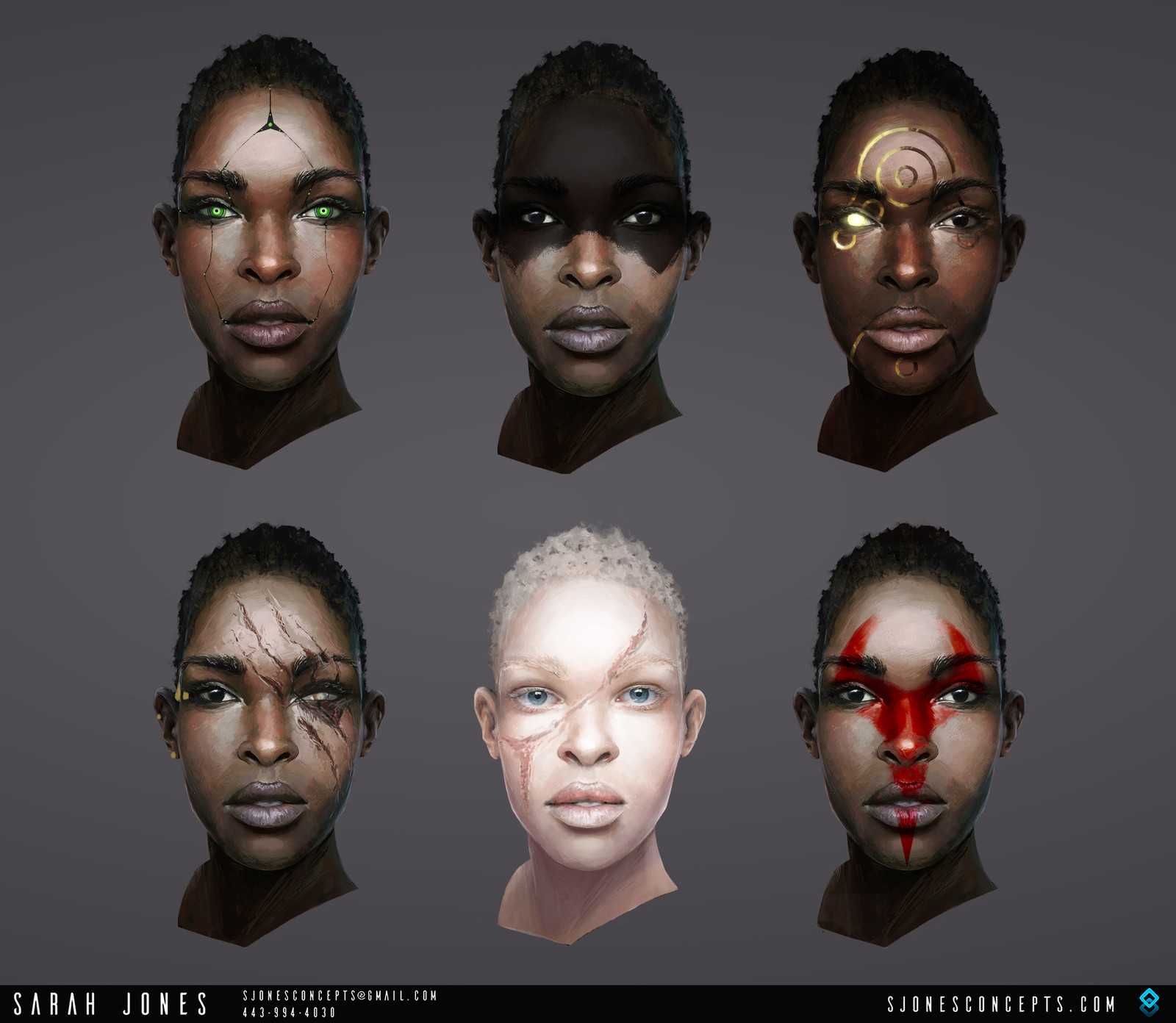 Thesis: Facial Variations - Female
