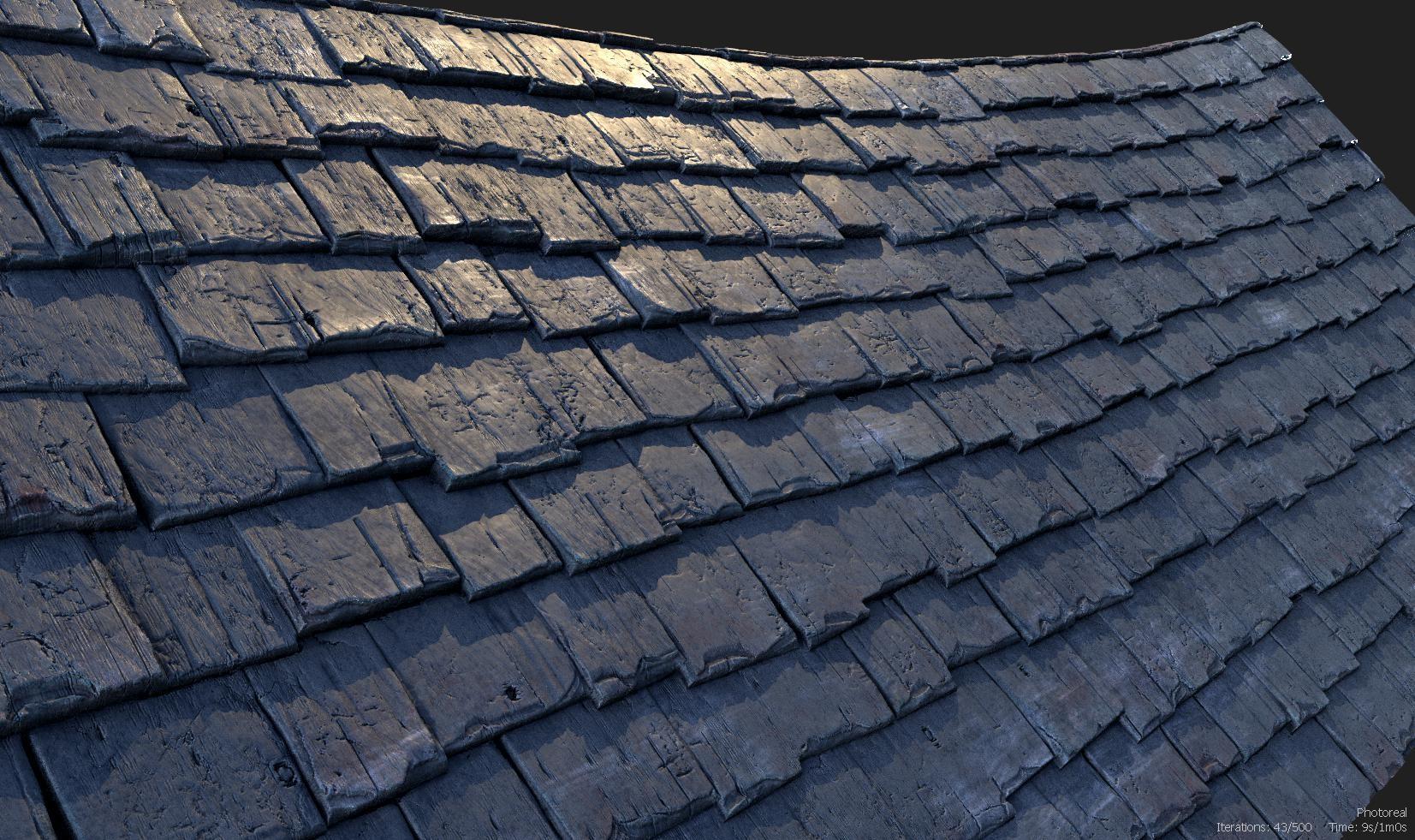 ArtStation - Roof Tiles, Christopher Evans