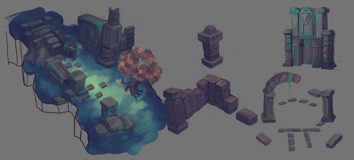 fast painting sketchs for more zones