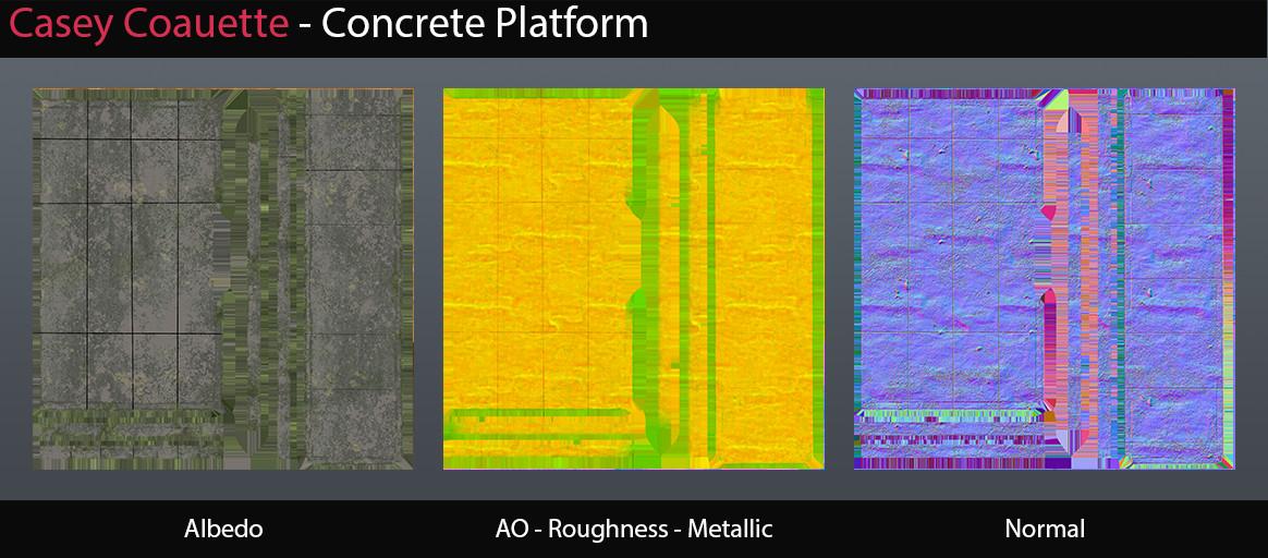 Concrete Platform Textures