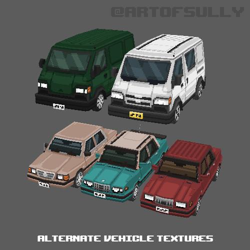 3D Pixel-Art Alternative Vehicle Textures (Commission)