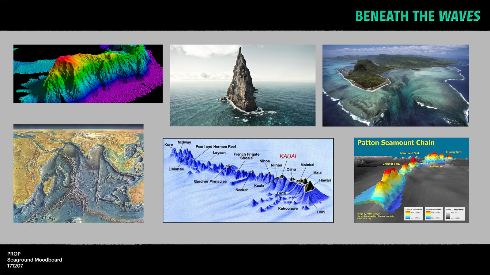For my seamounts I read some articles on the web and looked into interesting seaground formations.