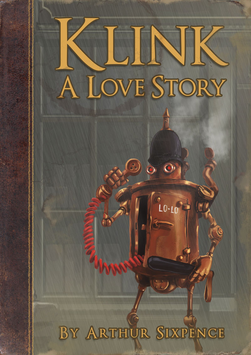 Klink- A Love Story. Mock book cover.