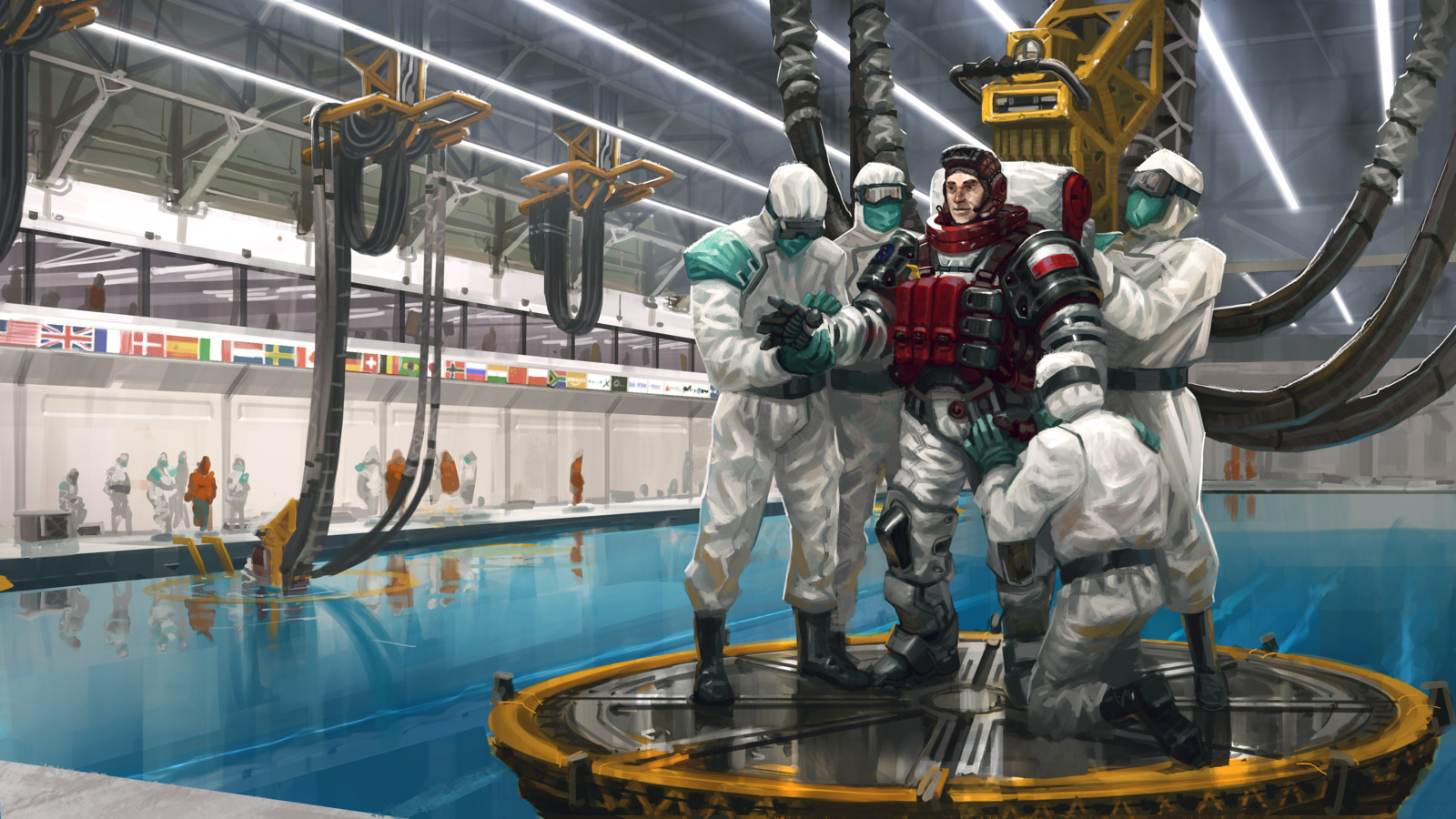 Astronaut Training Session