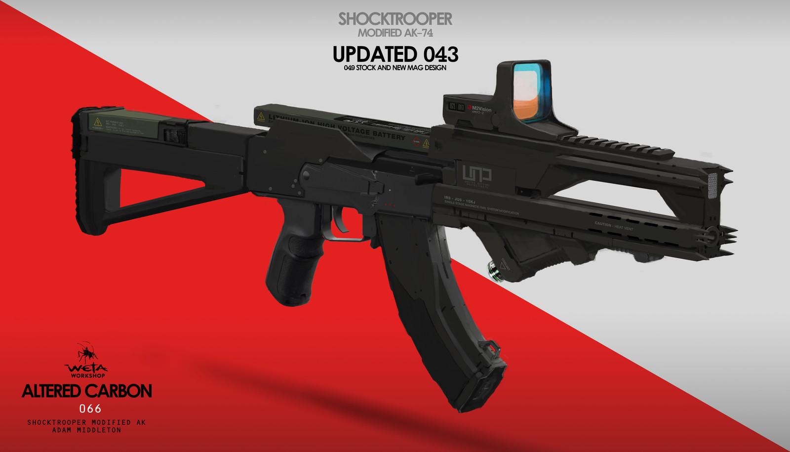 Shock Trooper Modified AK-47 - Artist: Adam Middleton