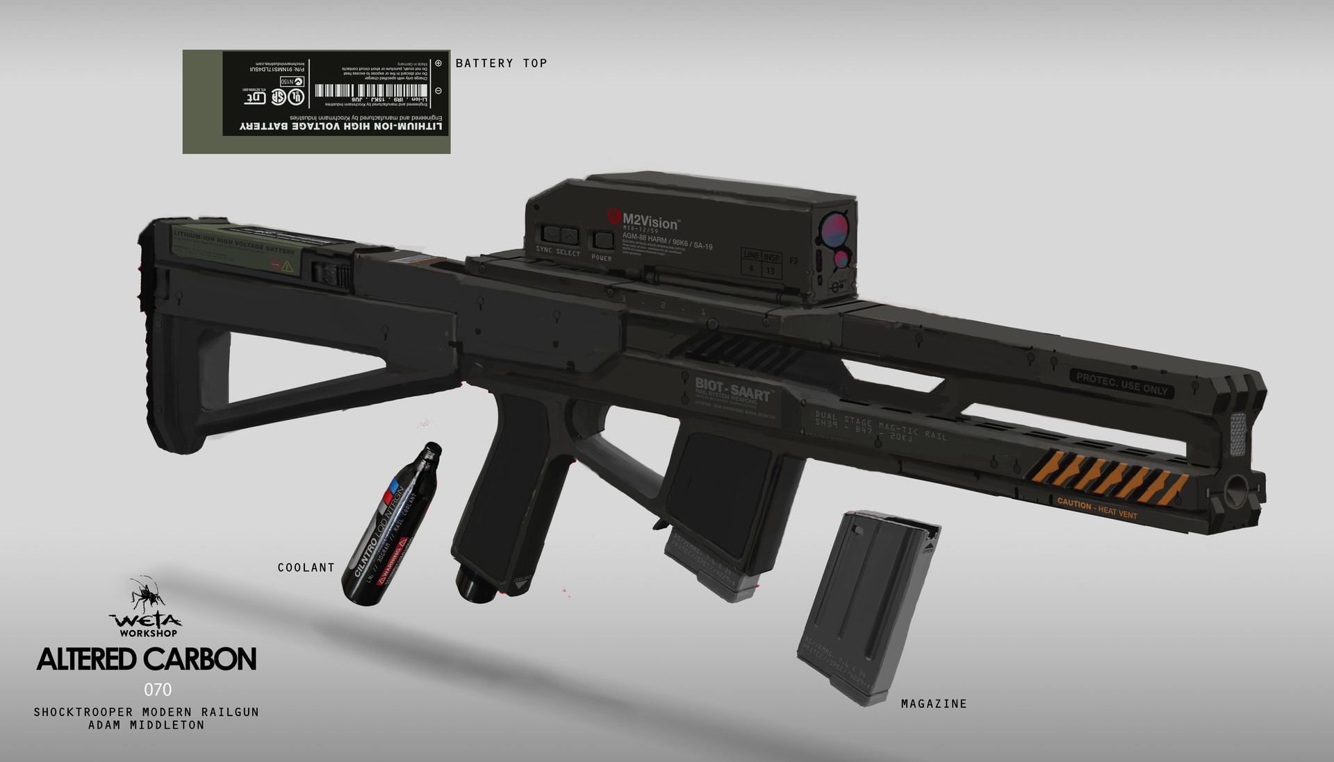 Shock Trooper Rifle - Artist: Adam Middleton