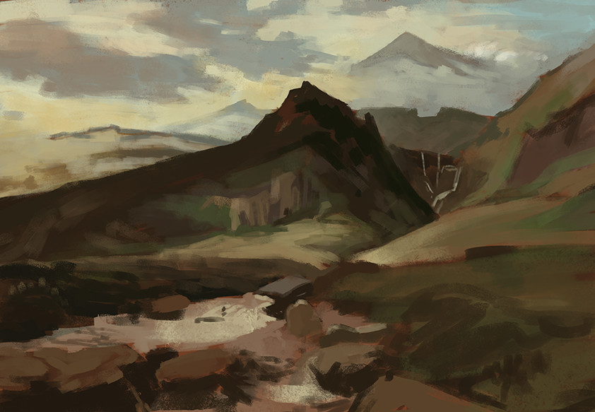 Study of a landscape painting by Sidney Richard Percy