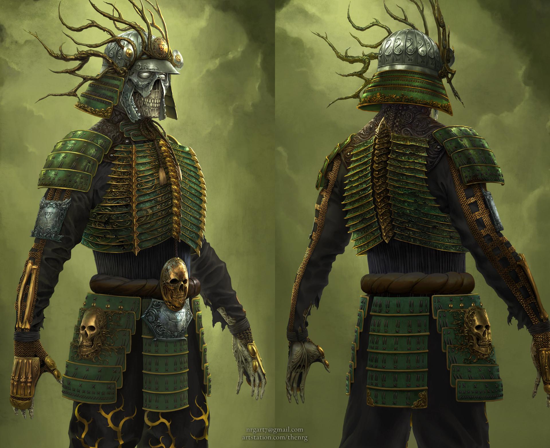 The nrg tsumetai ikari death samurai statue concept design by nrg crop7