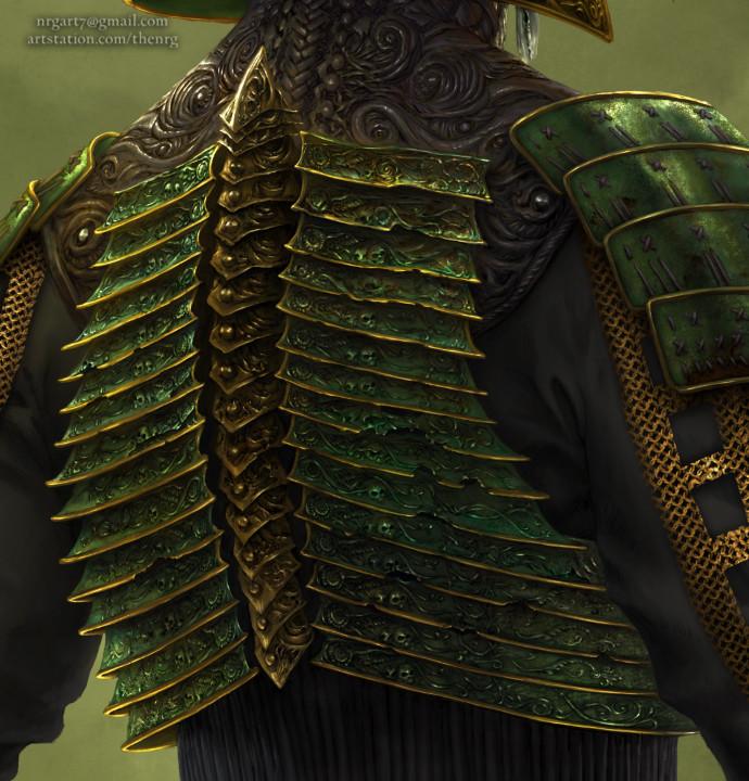 The nrg tsumetai ikari death samurai statue concept design by nrg crop11