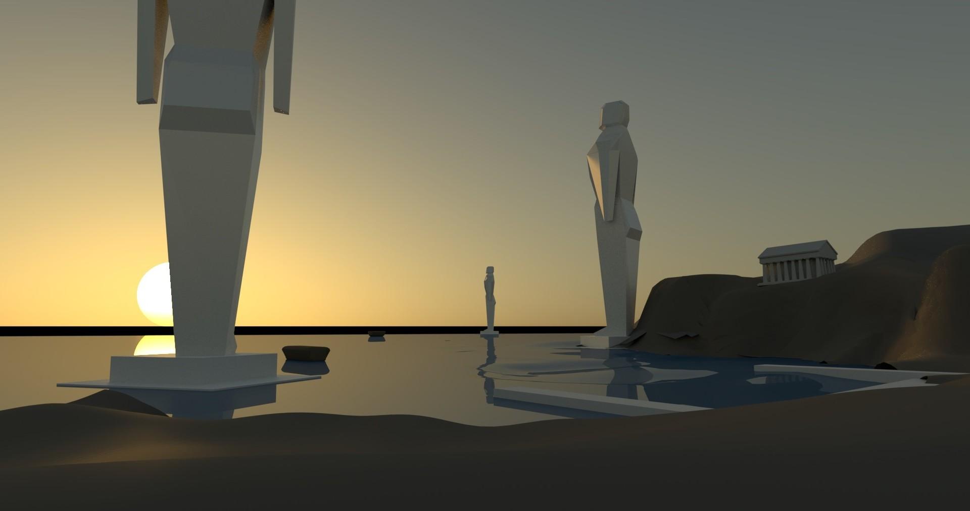 3D blockout in Maya