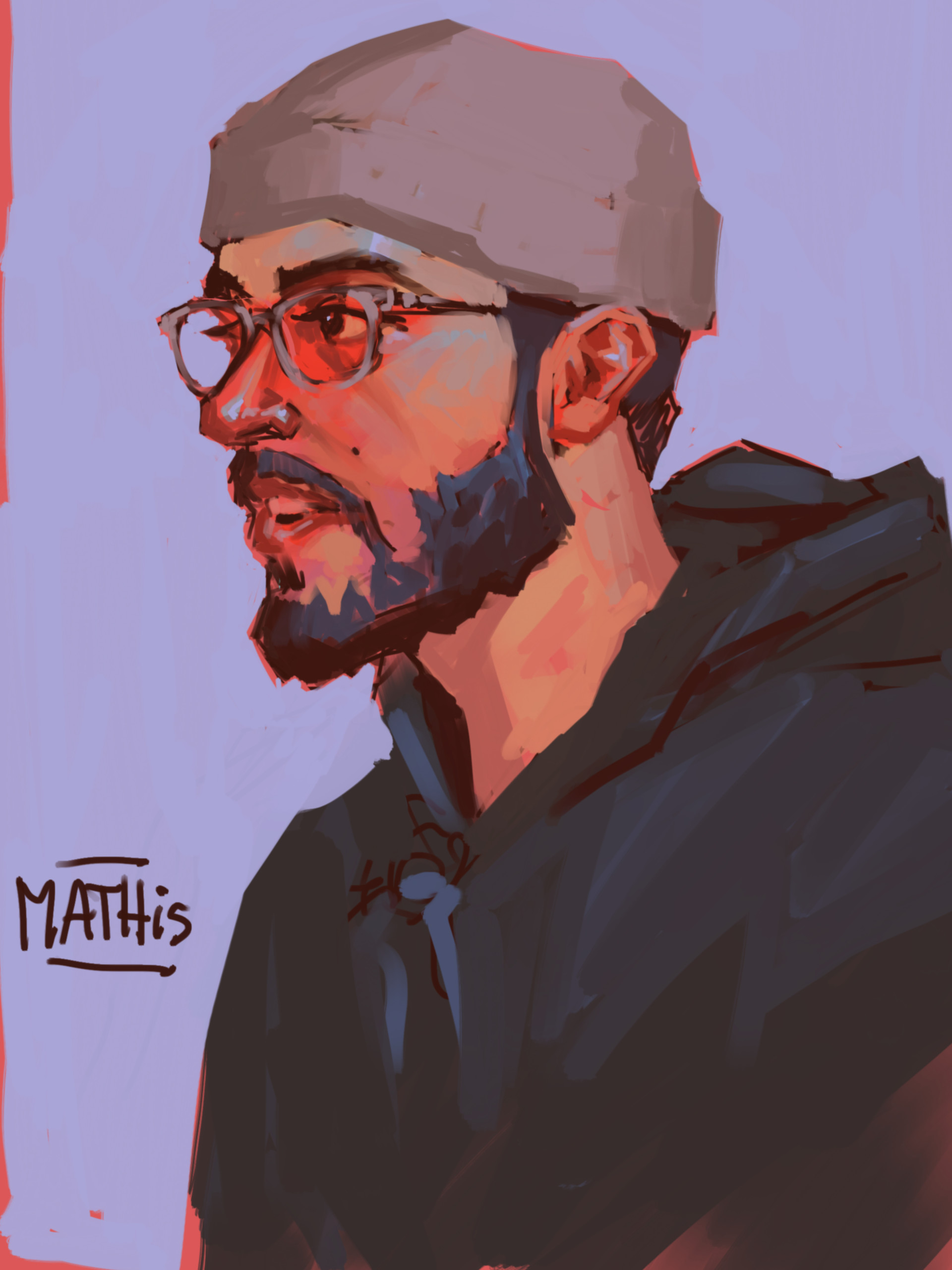 Portrait of my mate Mathis