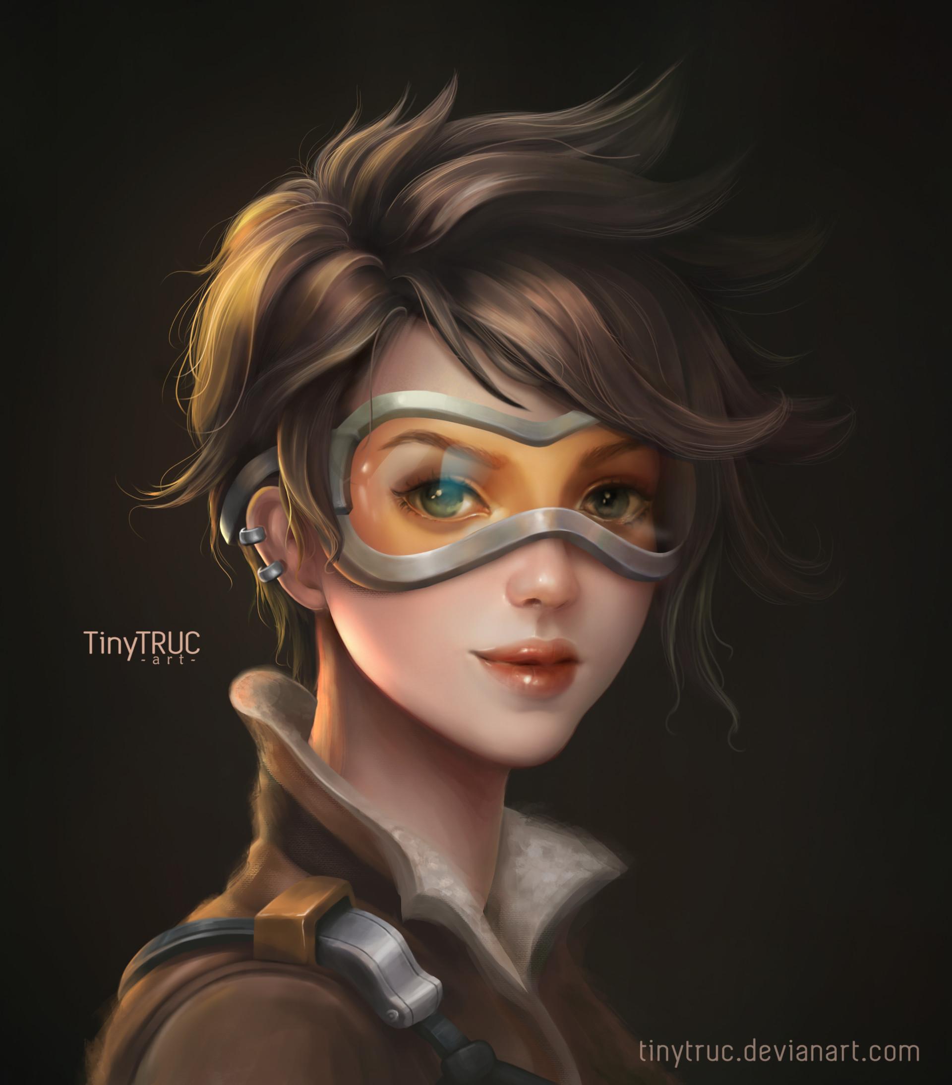 artstation - tracer overwatch portrait - fanart, tiny truc