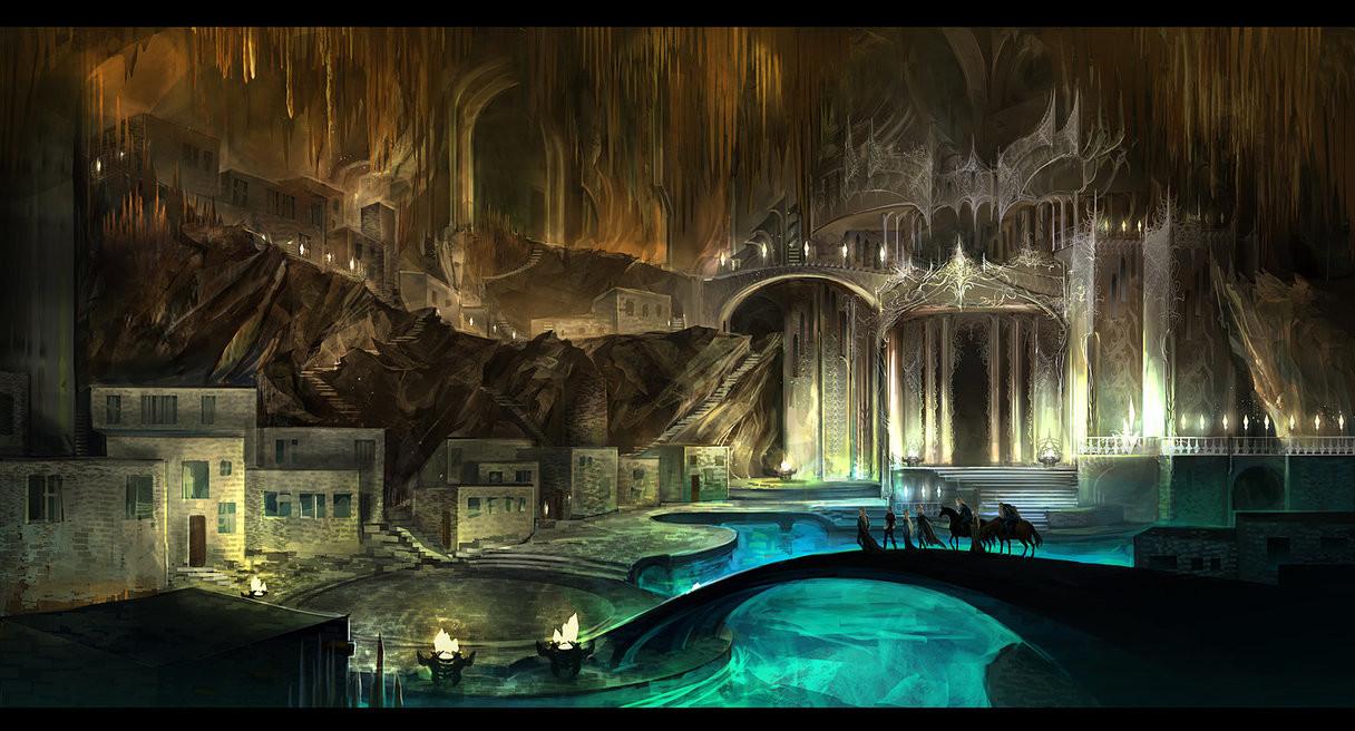 Artstation Underground Castle Anndr Pazyniuk
