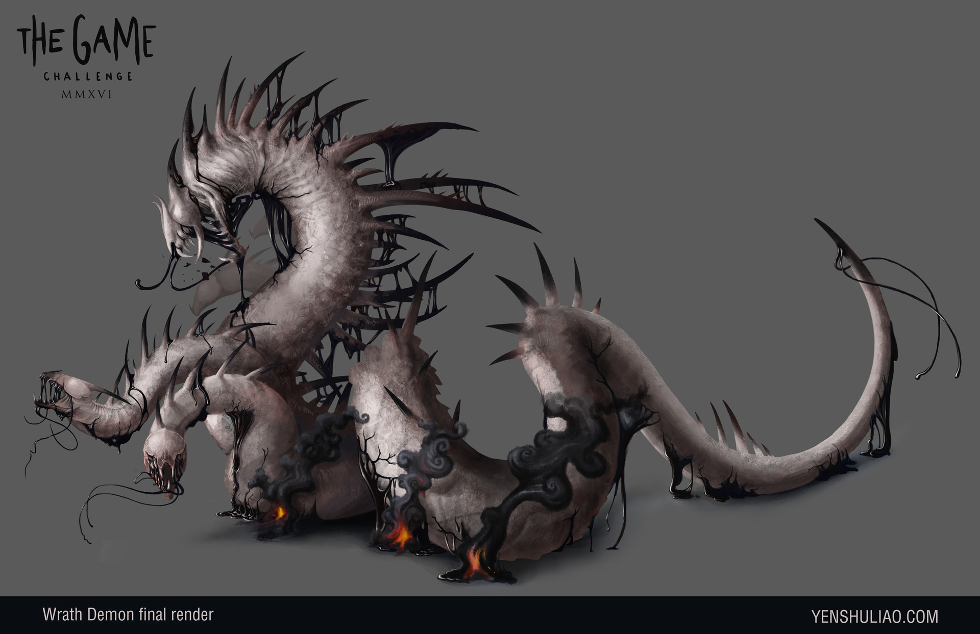 Yen shu liao demon dragon creature concept art