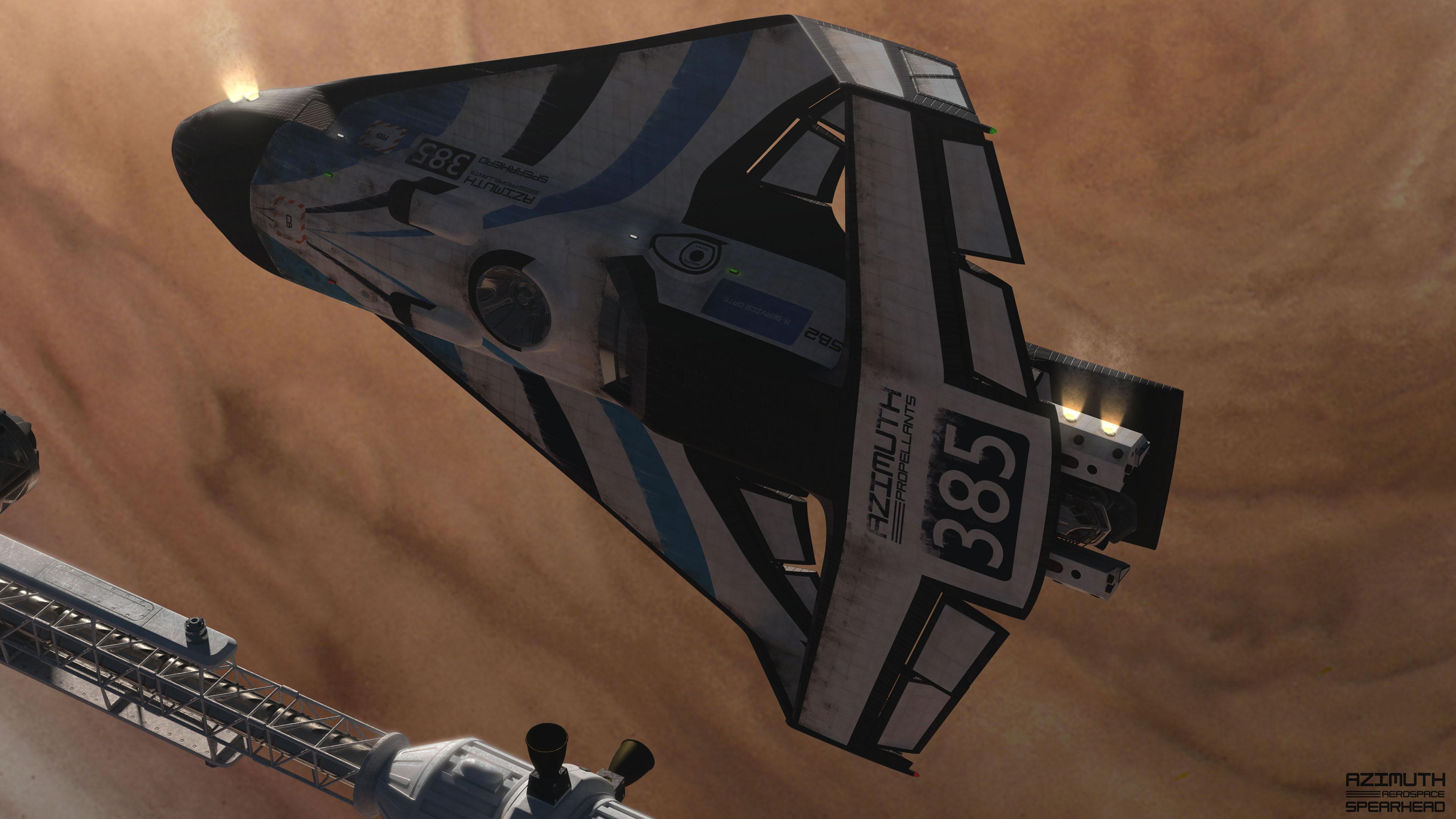 Undocking from an interplanetary vehicle