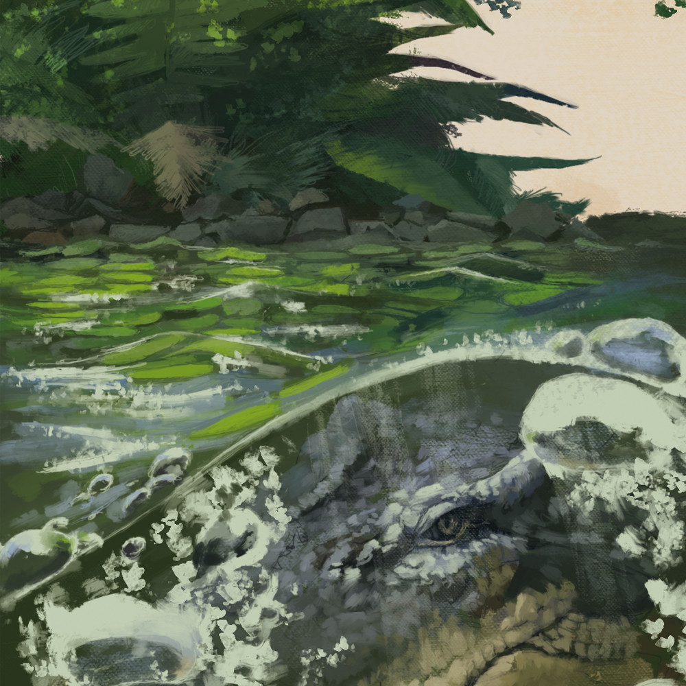 Joris van beusekom lurking crocodile