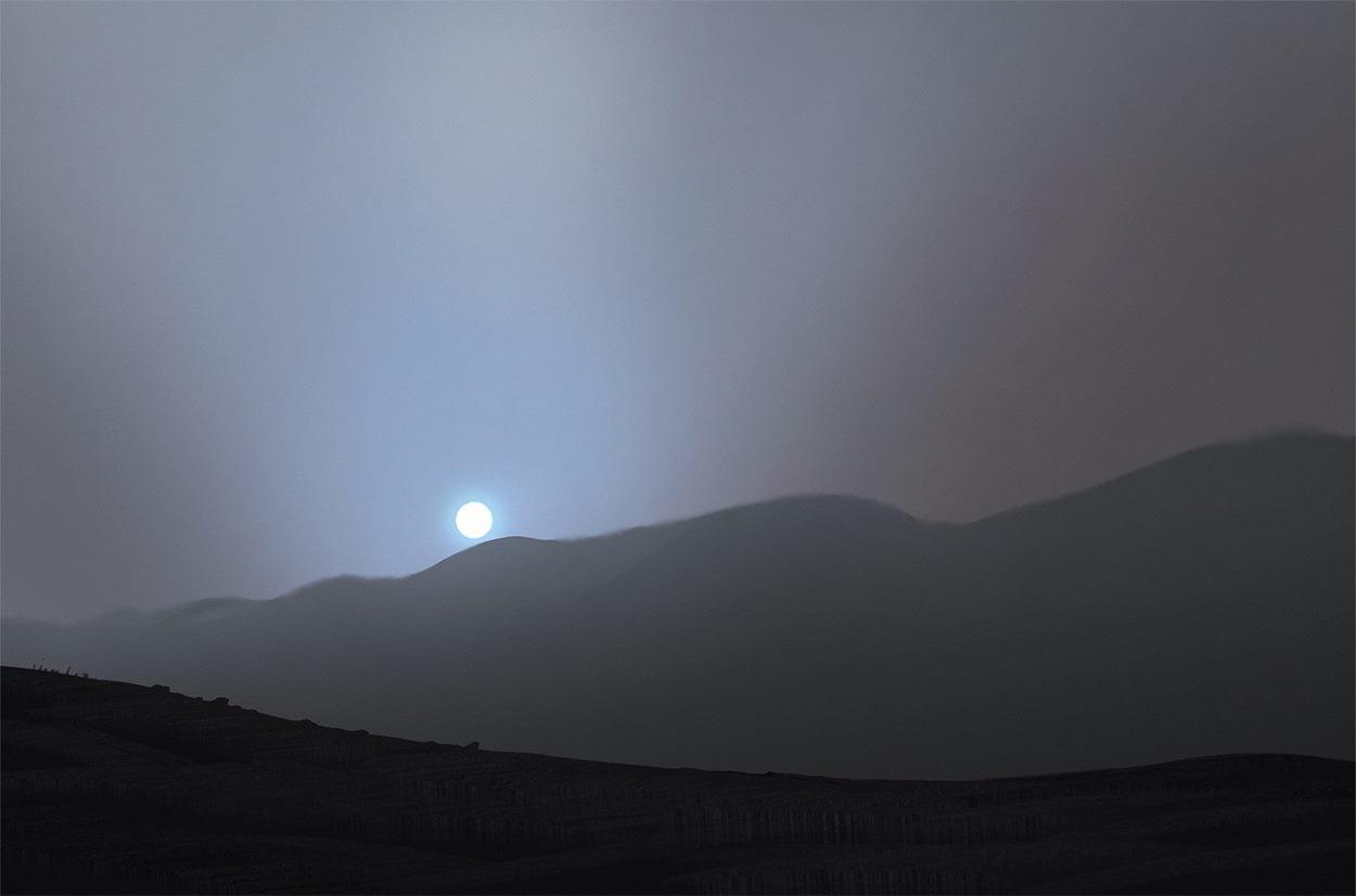 Dusk on Mars