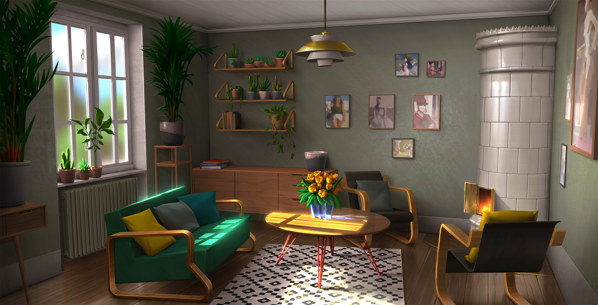 Artstation Finnish Interior Design Ulysse Verhasselt
