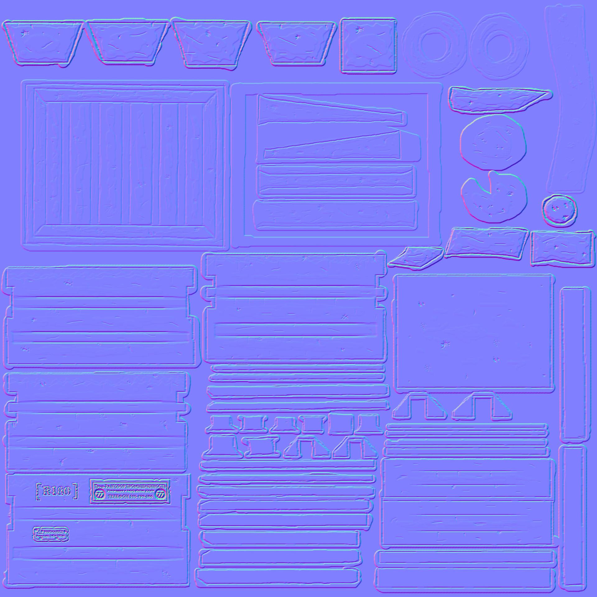 James skinner dumpster normalmap