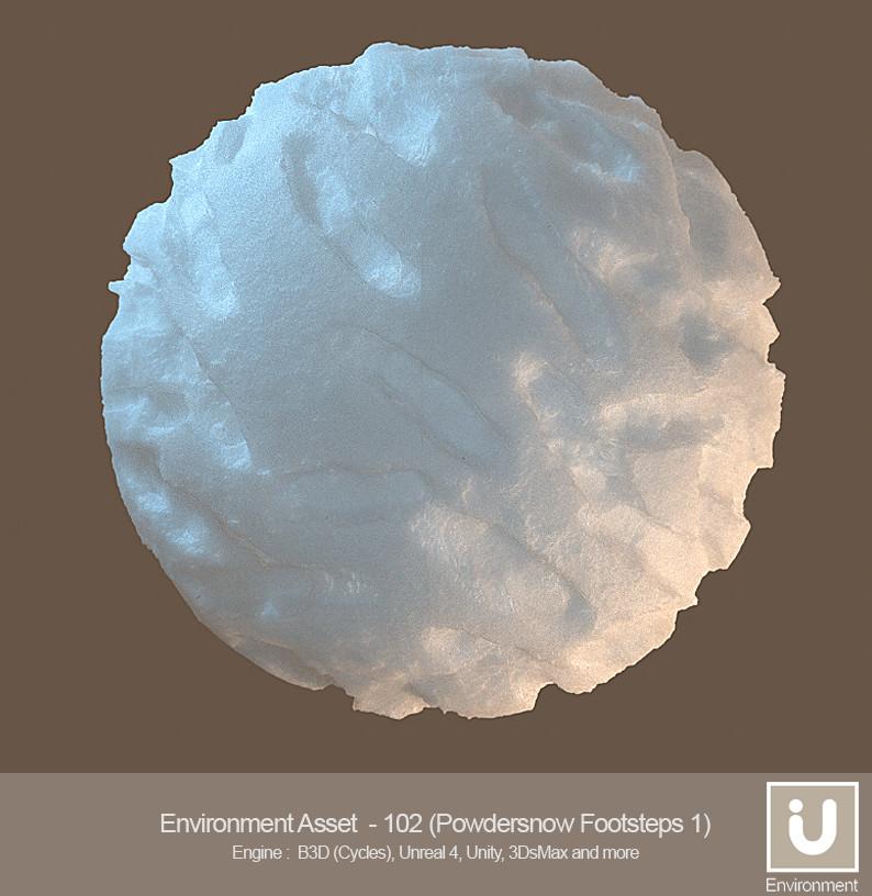 ArtStation - iU - Environment Asset - 102 (Powder Snow
