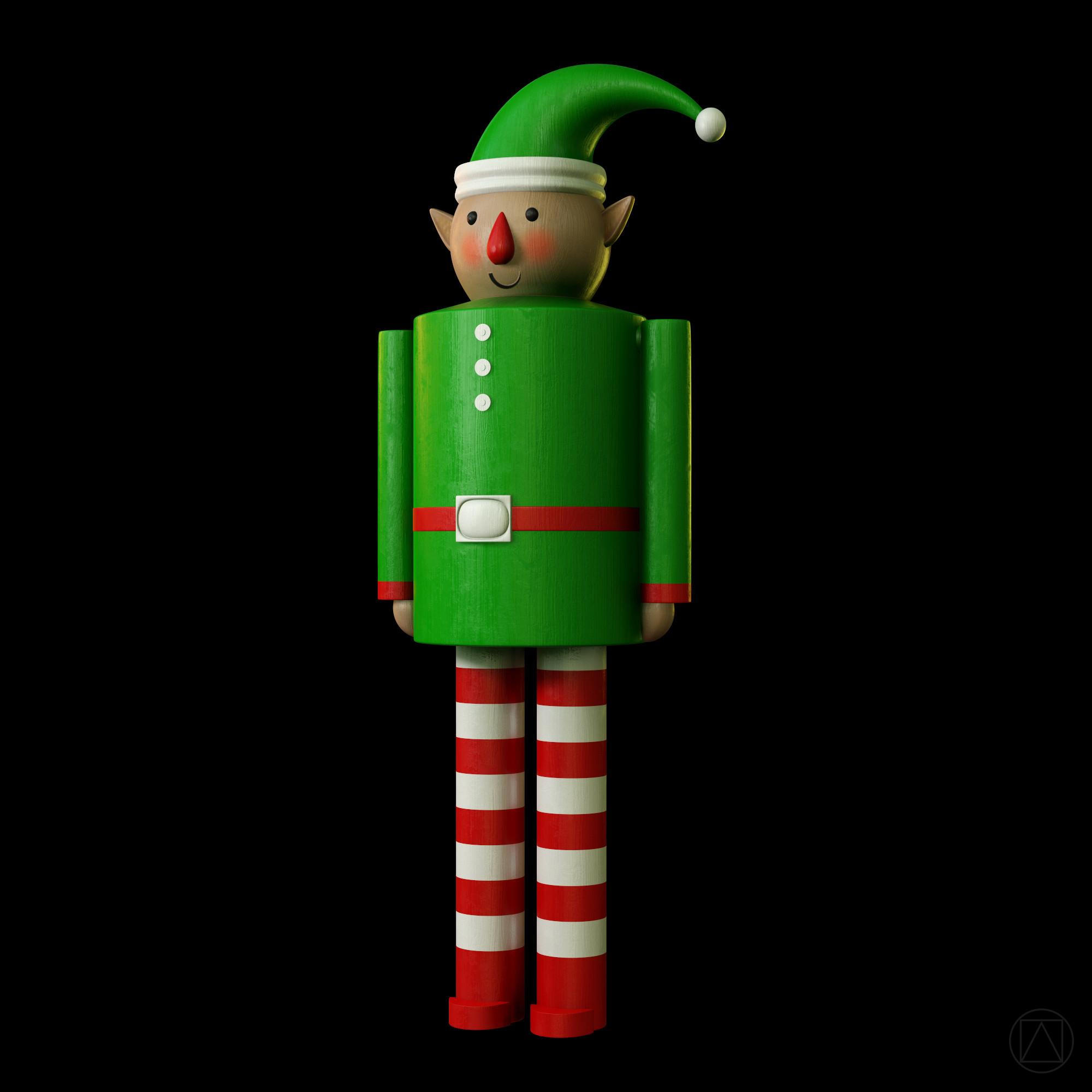 Christmas elf  (Toolbag render)