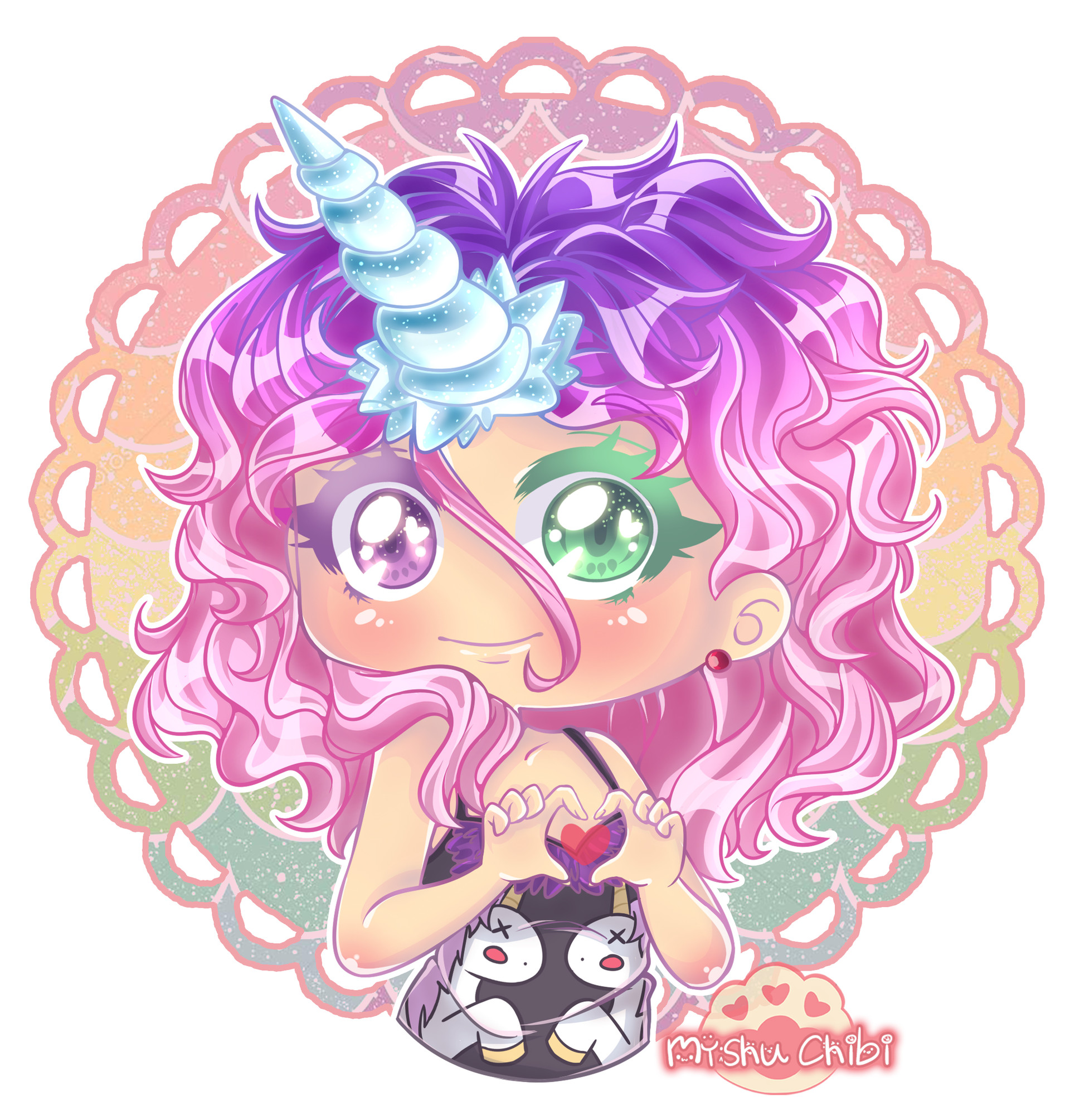 Kawaii Chibi Anime Unicorn Girl