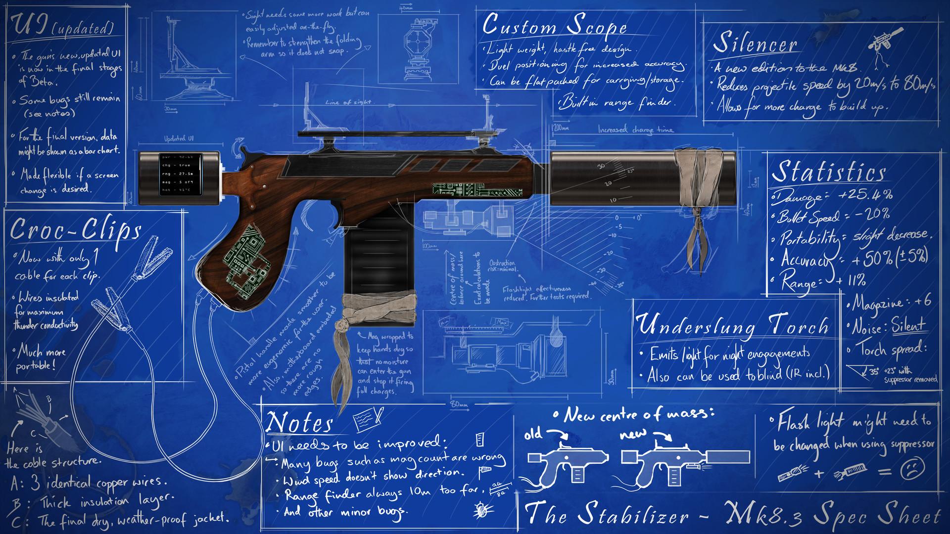 Corey hale handmade pistol blueprint concept corey hale original pistol design cmpsd malvernweather Gallery
