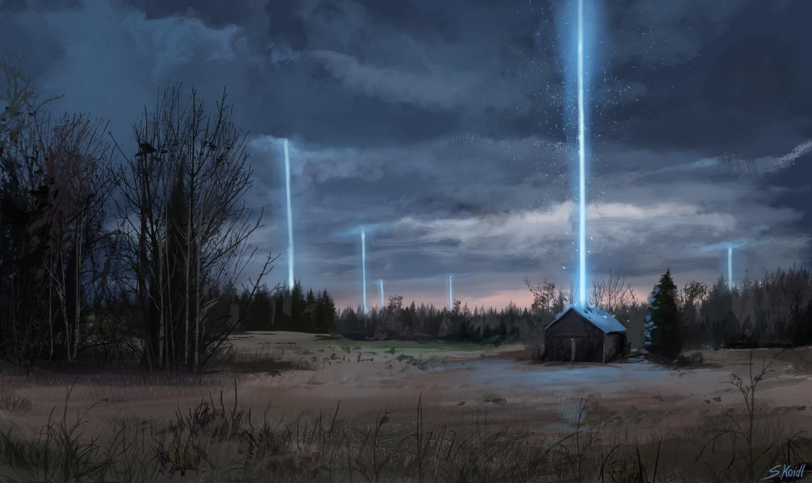 Blue light in the dark 2