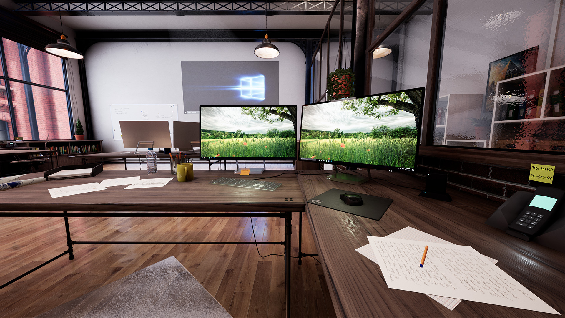 industrial office. Unreal Engine 4 - Industrial Office. The Whole Project In 4k 60fps. Office