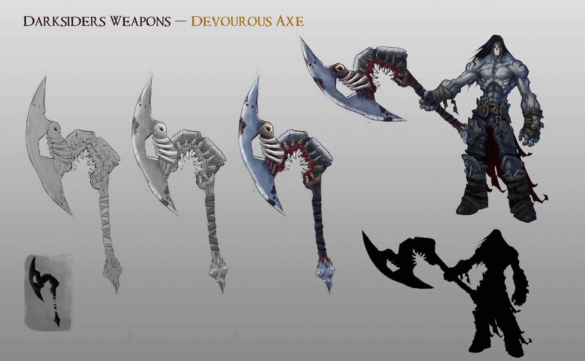 ArtStation - Darksider II Weapon Concept, VILLA Maël