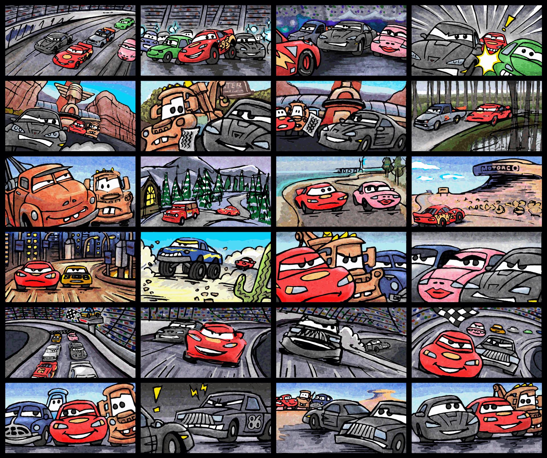 (2009) Storyboard - Cars: Race-O-Rama I