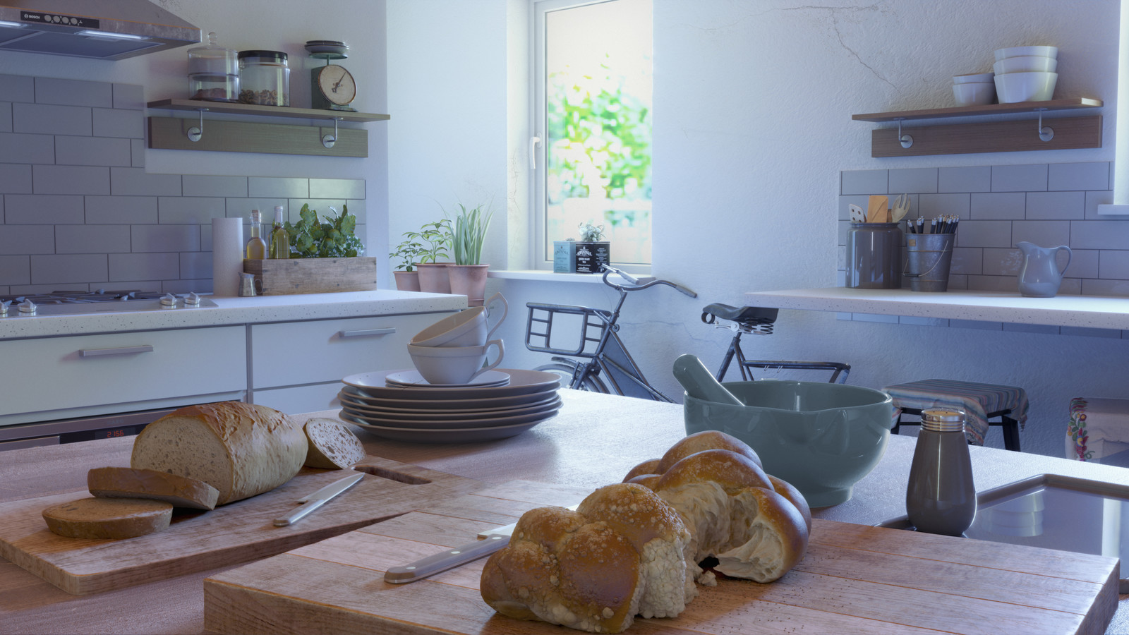 Rustic Kitchen - Corona Renderer