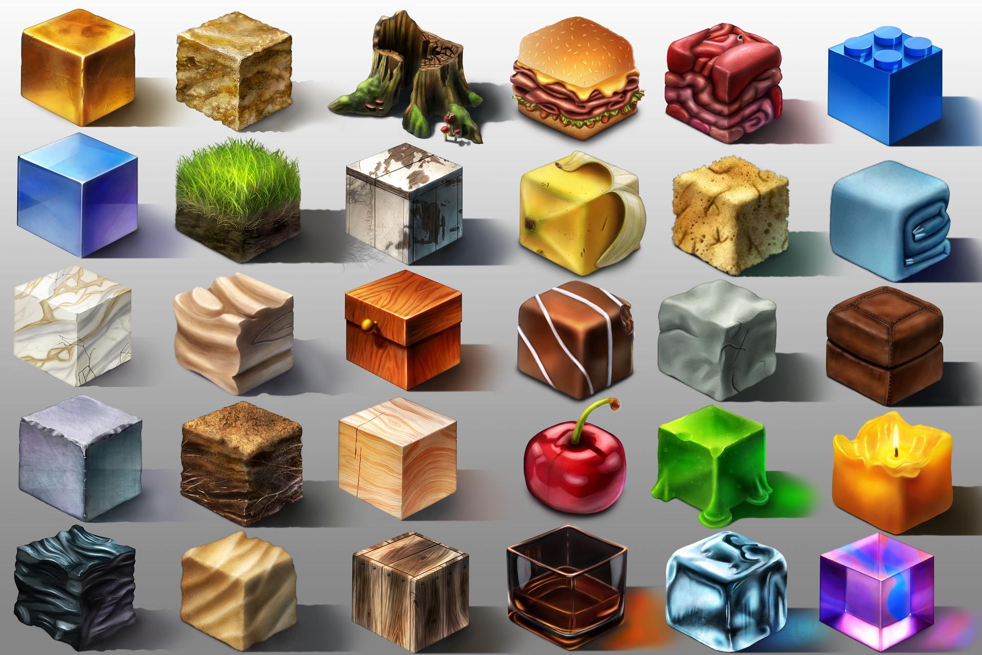 Sean guzman sean guzman texture cube studies