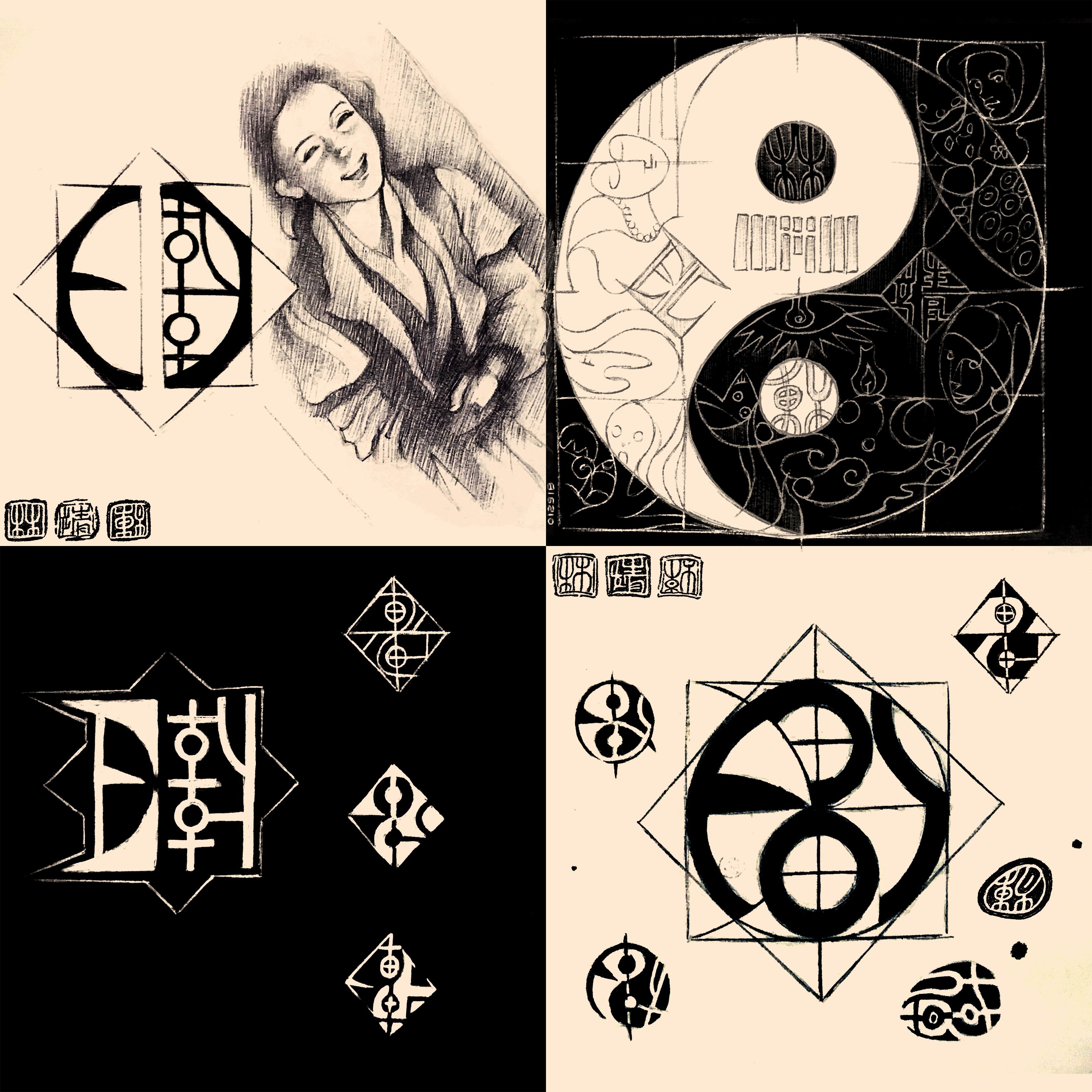 (2018) Logo + Yin Yang + Cait