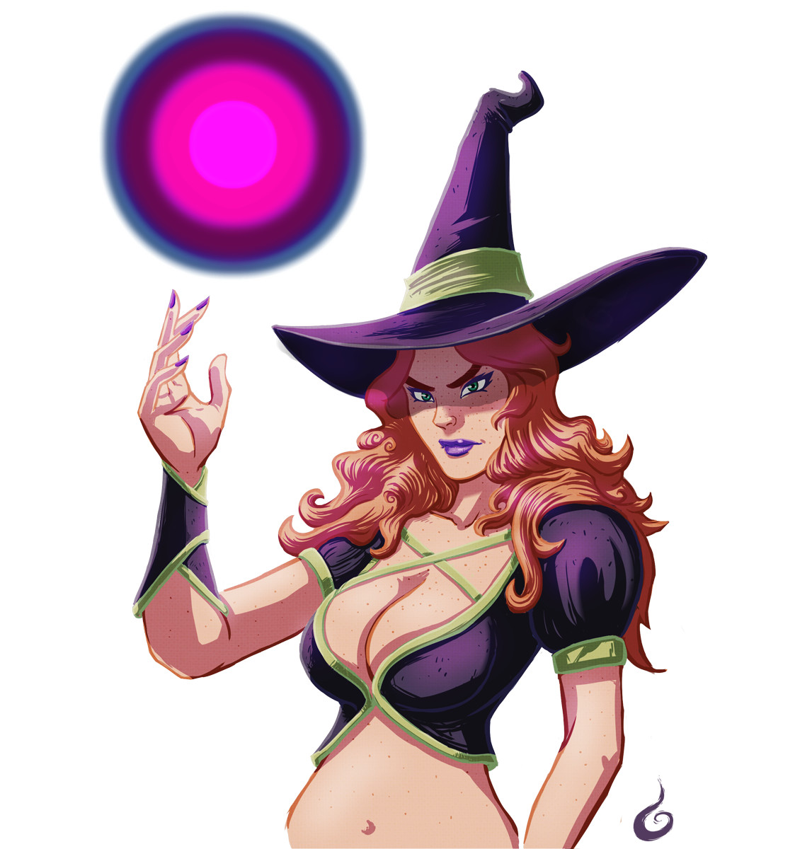 Witch with Magical Orb