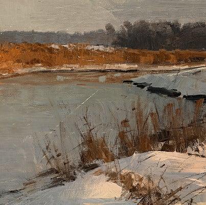 Greg rutkowski winter river study 1500