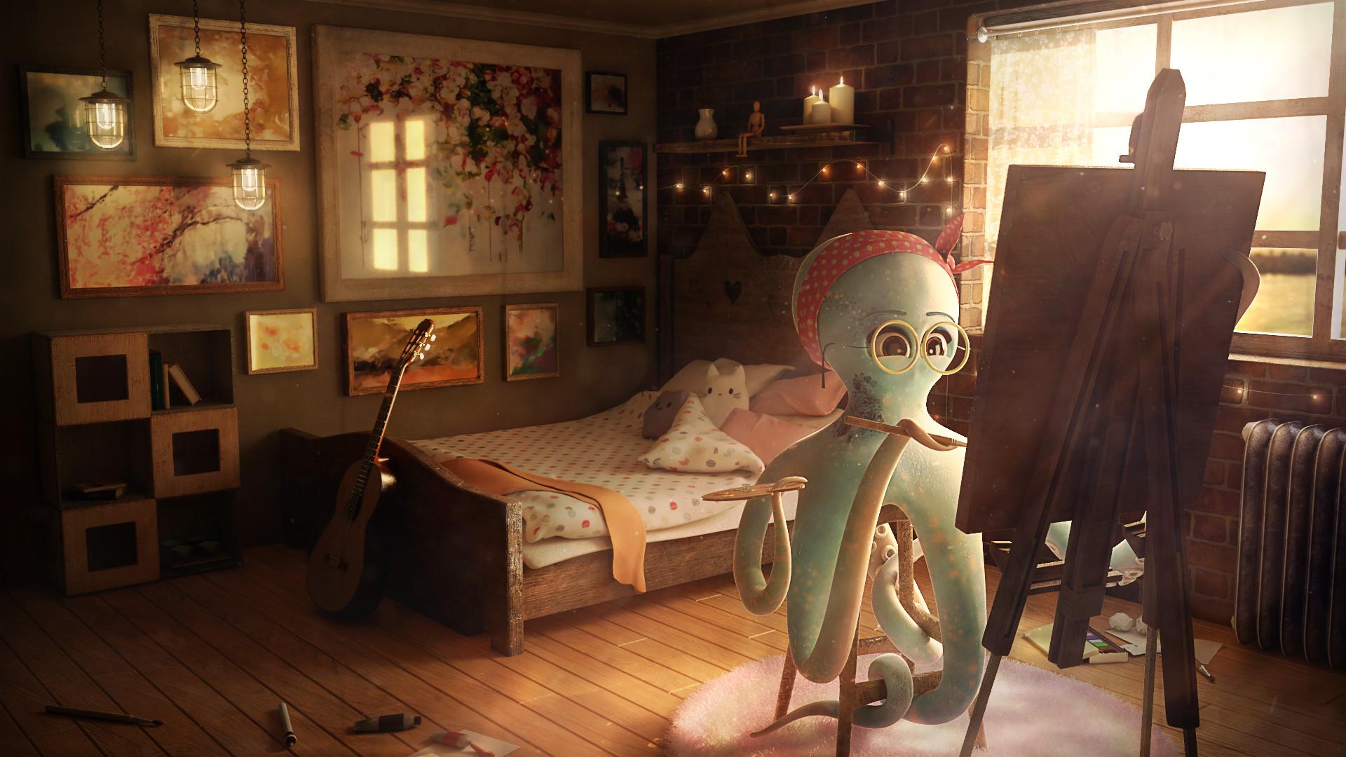 Artstation Artist S Bedroom Branimira Yordanova