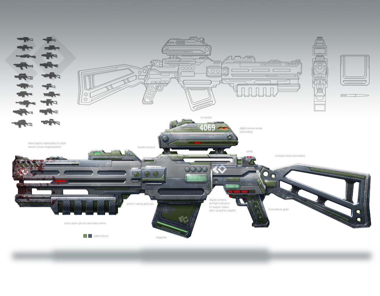 Sci Fi Assault Rifle