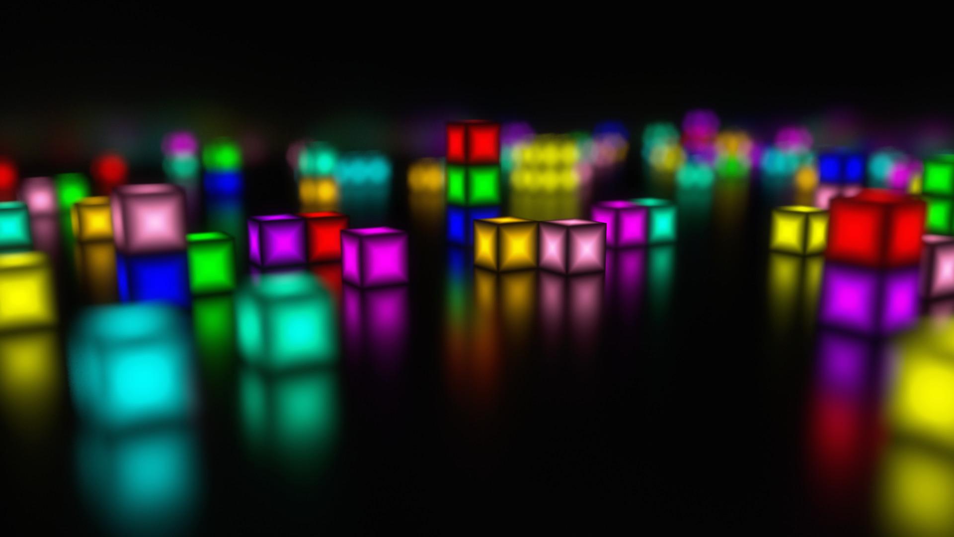 artstation glowing gradient cubes j gabriele