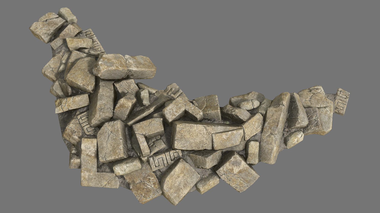 Architectural debris (single mesh, one material)
