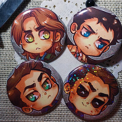 Mellanie chafe supernatural buttons
