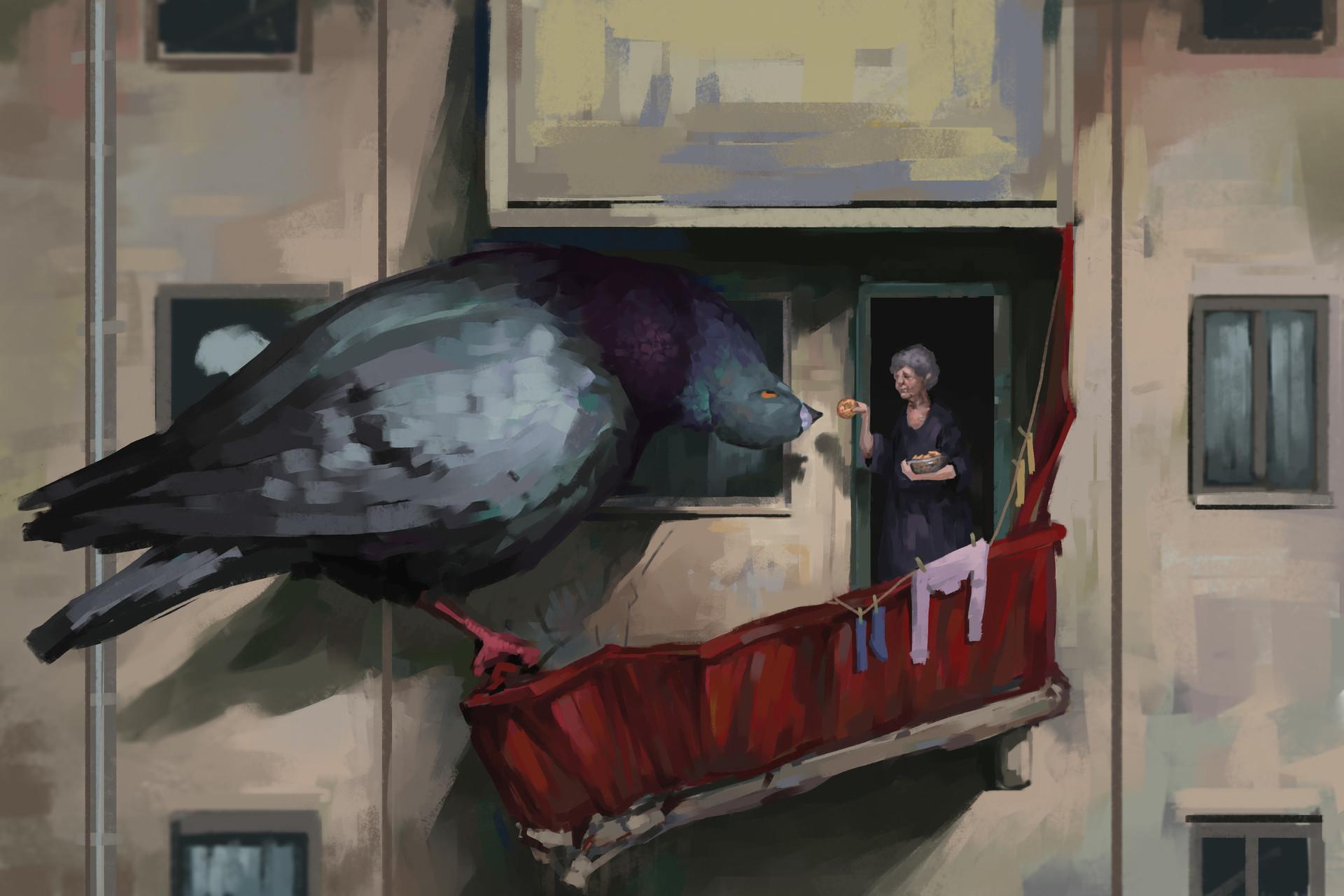 Смешные рисунки с голубями, марта