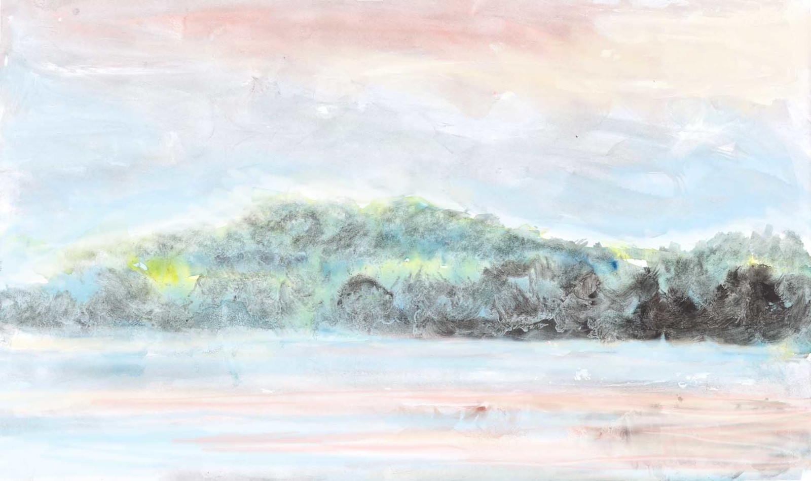 drawing of flooded scenery (background)