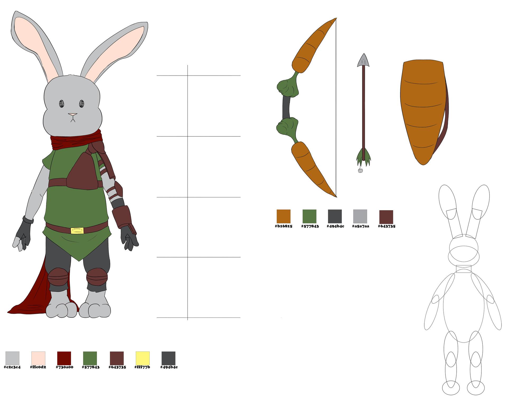 Josue canales bunny model sheet