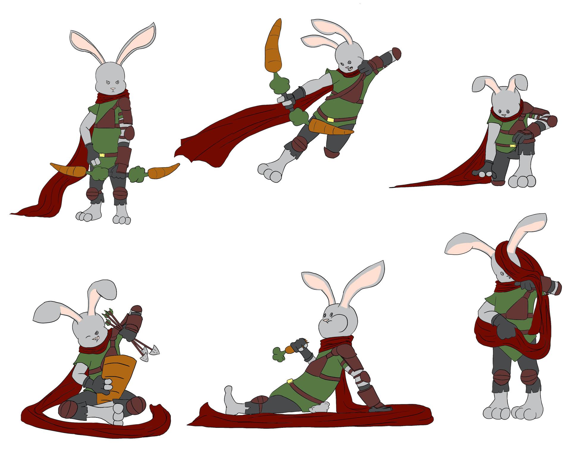 Josue canales bunny action poses