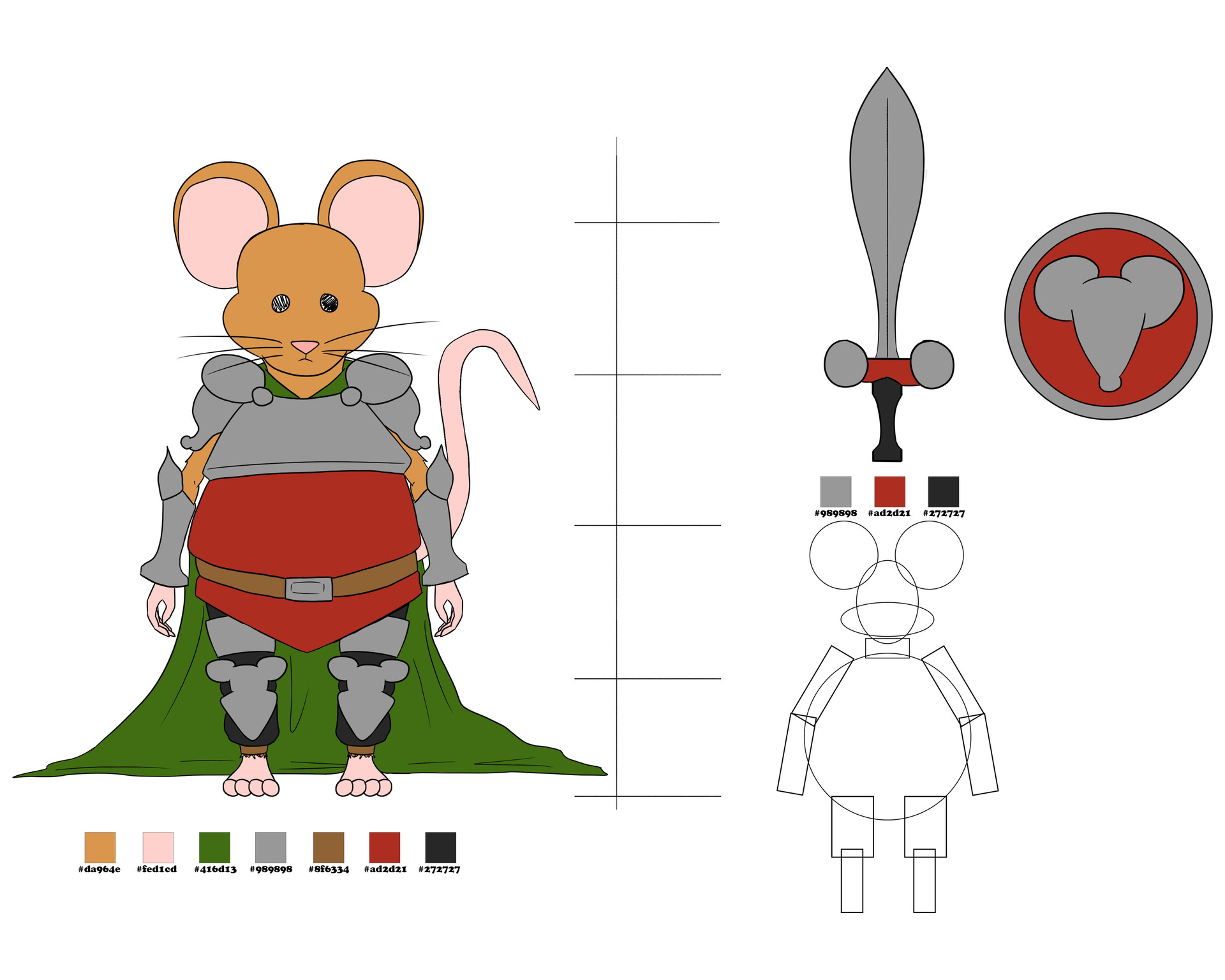 Josue canales mouse model sheet
