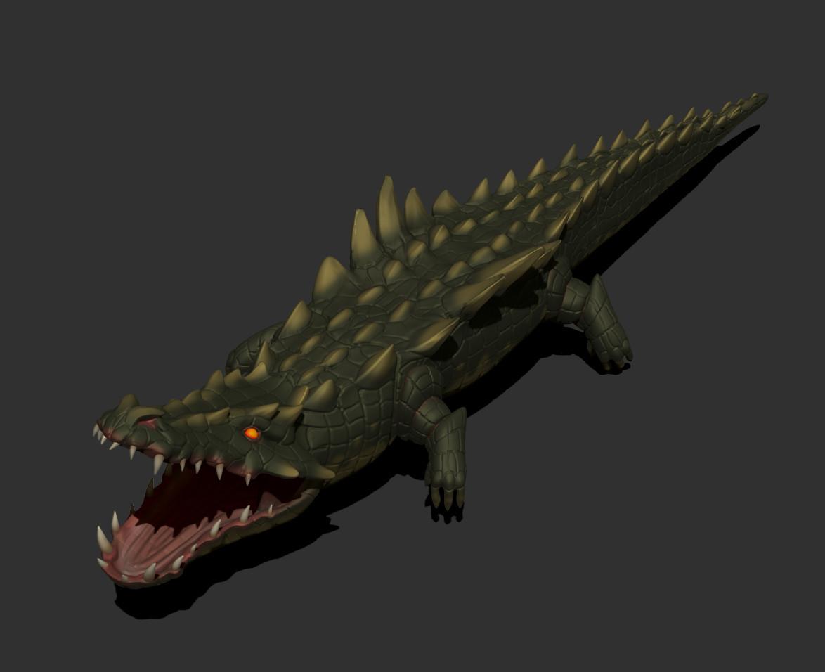 Nightfall crocodile