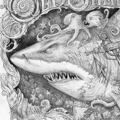 Sabin boykinov old shark ink poster